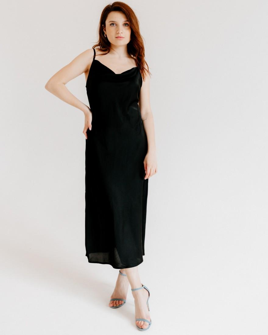 Жіноча сукня комбінація, чорна