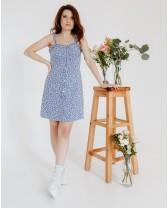 Літня сукня міні з рюшами, блакитна