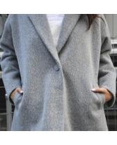 Жіноче коротке пальто, сіре